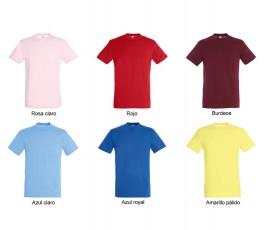 surtido de 6 colores variados y negro de camiseta hombre SOLS Regent