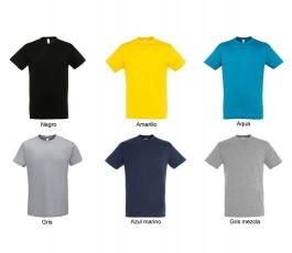 surtido de colores grises y azules de camiseta hombre SOLS Regent