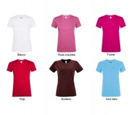 surtido de colores rojos, blanco y burdeos de camiseta de mujer SOLS Regent