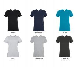 surtido de colores oscuros y grises de camiseta de mujer SOLS Regent