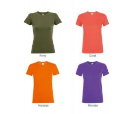 surtido de 4 colores de camiseta de mujer SOLS Regent