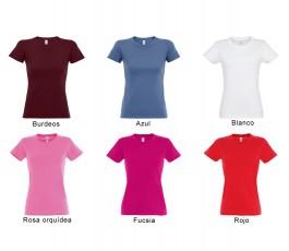 surtido de colores rojos y blanco de camiseta SOLS mujer 190 gr