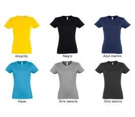 surtido de 6 colores de camiseta SOLS mujer 190 gr
