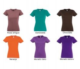 surtido de colores esoeciales de camiseta SOLS mujer 190 gr