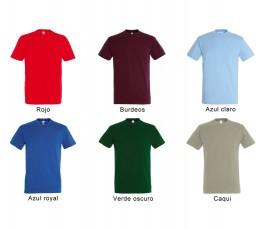 surtido de varios colores de camiseta SOLS hombre 190 gr