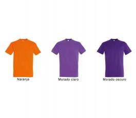 surtido de 6 colores morados y naranja de camiseta SOLS hombre 190 gr