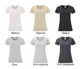 surtido de colores basicos de camiseta mujer iconic