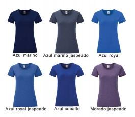 surtido de colores azules de camiseta mujer iconic