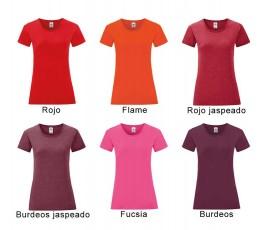 surtido de colores rojos de camiseta mujer iconic