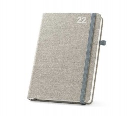 agenda A5 tipo moleskine del 2022 color gris