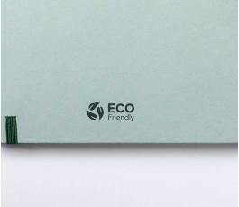 dorso de agenda de tapa rigida de carton con sello ECO Friendly