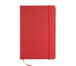 cuaderno tipo moleskine A5 modelo E1804 color rojo