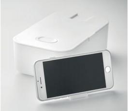 fiambrera modelo C6205 con soporte para telefono color blanco