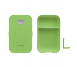 vista cenital de la fiambrera modelo C6205 con soporte para telefono color lima