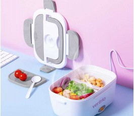 fiambrera electrica modelo A6724 abierta con comida en el interior