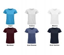surtido de colores basicos de camiseta de mujer de algodon organico