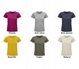 surtido de varios colores de camiseta de mujer de algodon organico