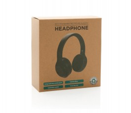caja de carton reciclado de los auriculares inalambricos plegables de ABS reciclado sin PVC
