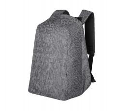 vista de mochila antirrobo reflectante para portatil y tablet en luz nocturna