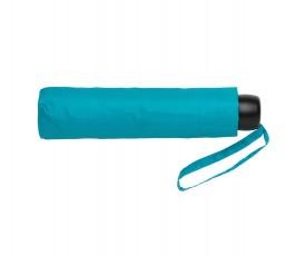 paraguas de bolsillo de RPET IMPACT de color azul plegado