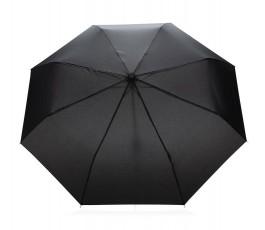 vista cenital del paraguas de bolsillo de RPET IMPACT de color negro