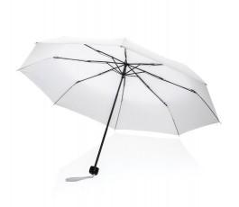 paraguas de bolsillo de RPET IMPACT de color blanco abierto