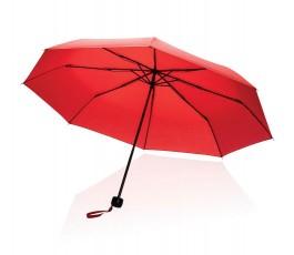 paraguas de bolsillo de RPET IMPACT de color rojo abierto