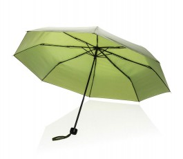 paraguas de bolsillo de RPET IMPACT de color verde abierto