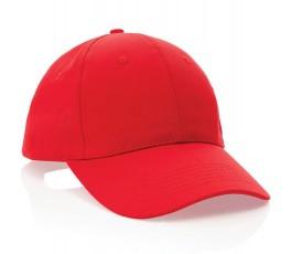 gorra publicitaria de algodon reciclado IMPACT de color rojo