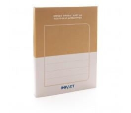 caja de cartón reciclado de la carpeta porta documentos de RPET IMPACT