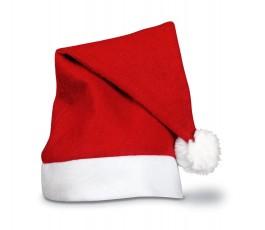 gorro de papa noel de color rojo con base de color blanco