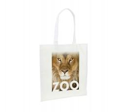 bolsa de non-woven de asas largas personalizada con foto de tigre