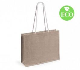 bolsa de yute con asas largas modelo A4883 color natural y sello ECO