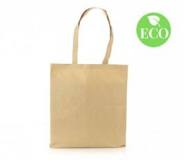 bolsa ecologica publicitaria de fibra de algodon y papel con sello ECO