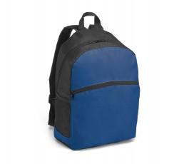 mochila en colores negro y azul en fondo blanco