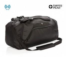 bolsa de viaje Swiss Peak con RFID color negro