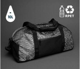 bolsa de viaje IMPACT reflectante en la oscuridad con sellos RPET y de ahorro de agua