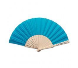 abanico varilla madera modelo A8863 color azul