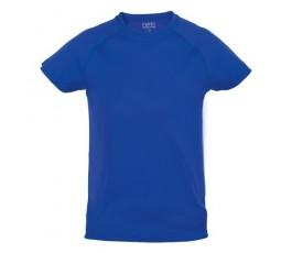 camiseta tecnica infantil de color azul