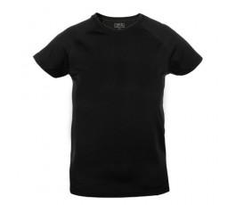 camiseta tecnica infantil de color negro