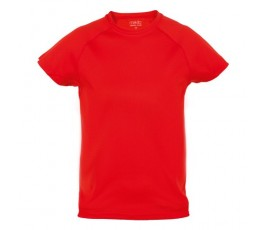 camiseta tecnica infantil de color rojo