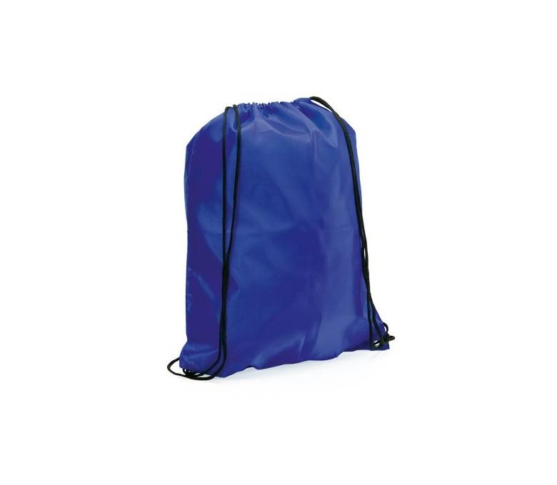 mochila con cordones modelo A3164 color azul para personalizar con logo