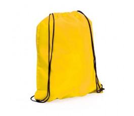 mochila con cordones modelo A3164 color amarillo
