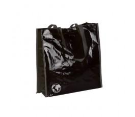 bolsa biodegradable color negro y asas de color negro