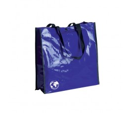 bolsa biodegradable color azul y asas de color negro
