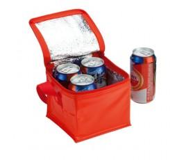 nevera para 4 latas color rojo modelo A4147 con latas