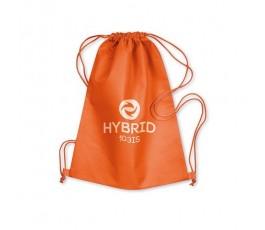 mochila de cuerdas de non woven modelo C8031 color naranja personalizada con logo