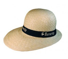 sombrero visera modelo S1883 con cinta negra personalizada