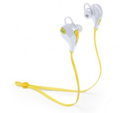 Auriculares Bluetooth modelo A5070 color amarillo