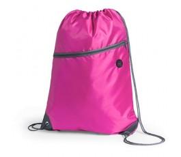 mochila de cuerdas con bolsillo modelo A4780 color fucsia